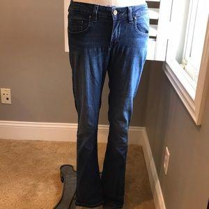 Anthropologie darker wash skinny jeans 28